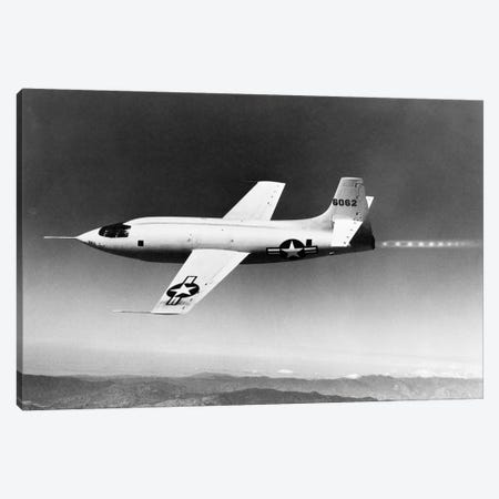 1940s-1950s Bell X-1 Us Air Force Supersonic Plane Designed For Maximum Speed Of 1700 Mph In Flight Canvas Print #VTG245} by Vintage Images Canvas Print