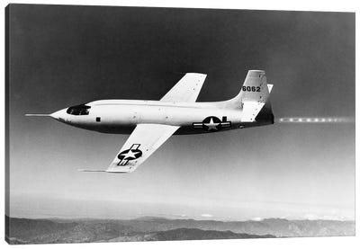 1940s-1950s Bell X-1 Us Air Force Supersonic Plane Designed For Maximum Speed Of 1700 Mph In Flight Canvas Art Print