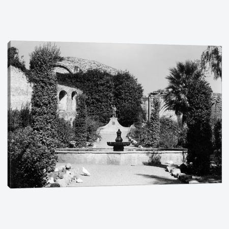 1940s-1950s Garden Of San Juan Capistrano Mission California Canvas Print #VTG250} by Vintage Images Canvas Print