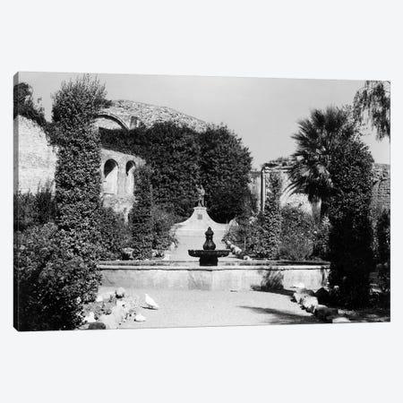 1940s-1950s Garden Of San Juan Capistrano Mission California Canvas Print #VTG250} by Vintage Images Canvas Print