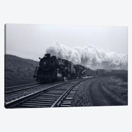 1940s-1950s Speeding Steam Locomotive Passenger Train Near Port Jervis New York USA Canvas Print #VTG253} by Vintage Images Canvas Art Print