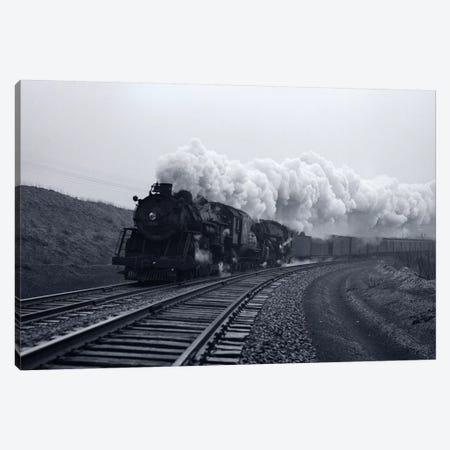 1940s-1950s Speeding Steam Locomotive Passenger Train Near Port Jervis New York USA Canvas Print #VTG253} by Vintage Images Canvas Art Print