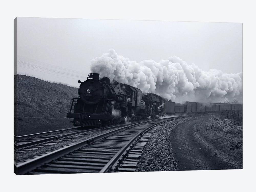 1940s-1950s Speeding Steam Locomotive Passenger Train Near Port Jervis New York USA by Vintage Images 1-piece Art Print
