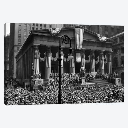 1942 WW II War Bond Rally Federal Treasury Building New York Stock Exchange Wall Street Manhattan New York City USA Canvas Print #VTG255} by Vintage Images Canvas Wall Art