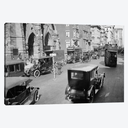 1912 Policeman And Traffic Semaphore On Fifth Avenue And 48Th Street Before World War I Manhattan New York City USA Canvas Print #VTG26} by Vintage Images Art Print