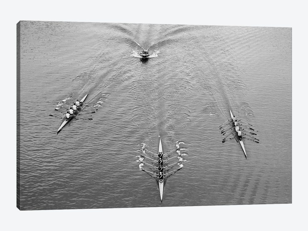 1950s Aerial View Of Rowing Competition by Vintage Images 1-piece Canvas Art