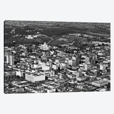 1950s Aerial View Showing El Cortez Hotel And Balboa Park Downtown San Diego, California USA Canvas Print #VTG271} by Vintage Images Canvas Art Print