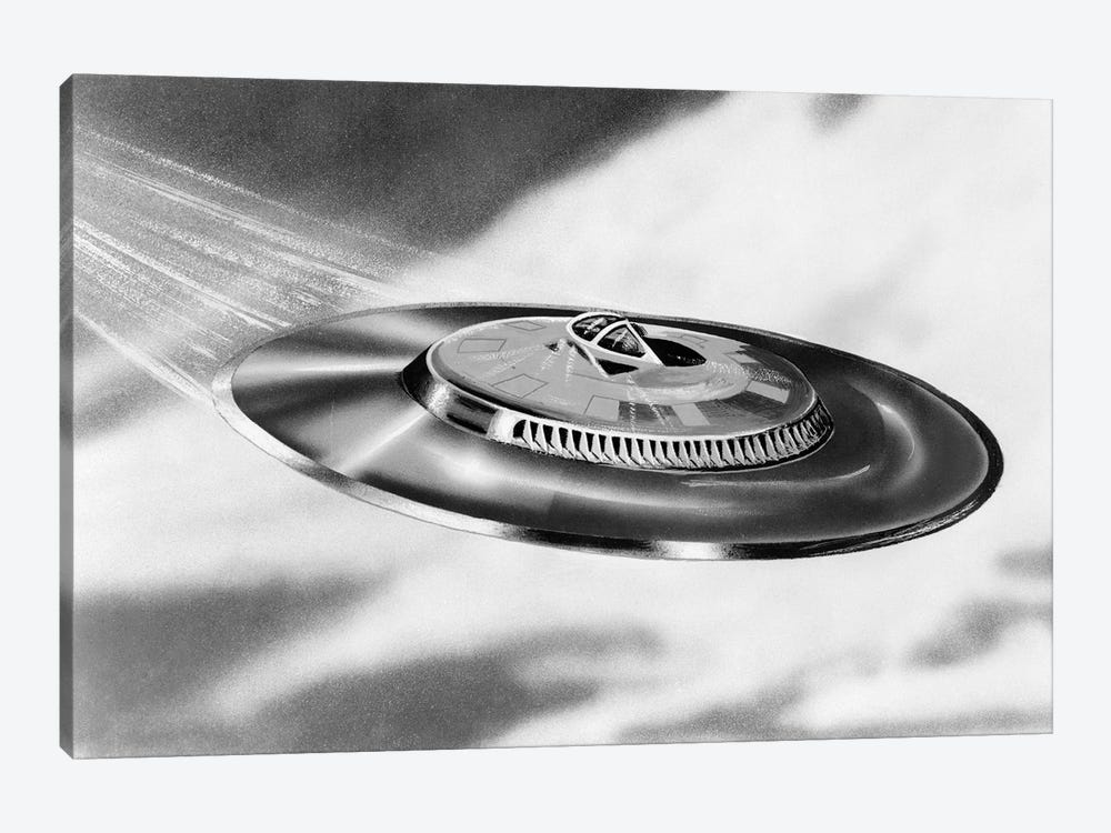 1950s Artist's Conception Of Flying Saucer by Vintage Images 1-piece Canvas Print