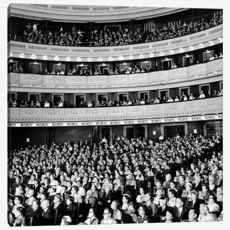 1950s Audience Sitting In Carnegie Hall New York City NY USA 3-Piece Canvas #VTG274} by Vintage Images Canvas Art