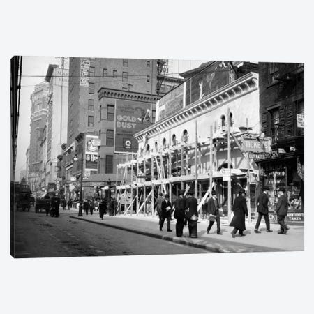 1915-16 Haymarket Theater Becomes Movie House End Of The Tenderloin 6Th Avenue And 30Th Street New York City USA Canvas Print #VTG27} by Vintage Images Art Print