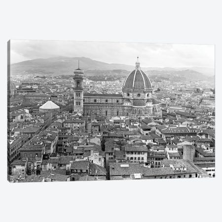 1950s Cathedral Santa Maria Del Fiore And Giotto's Bell Tower Florence Italy Canvas Print #VTG281} by Vintage Images Canvas Artwork