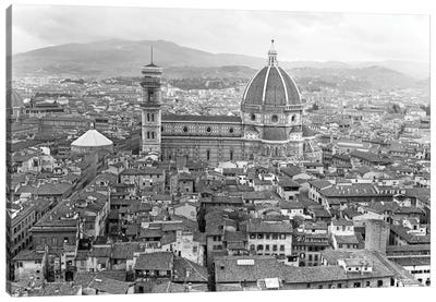 1950s Cathedral Santa Maria Del Fiore And Giotto's Bell Tower Florence Italy Canvas Art Print