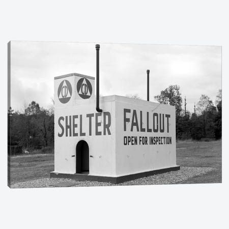 1950s Civil Defense Fallout Shelter Sample Open For Inspection Canvas Print #VTG282} by Vintage Images Canvas Wall Art
