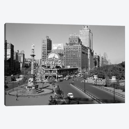 1950s Columbus Circle Looking North Manhattan New York City USA Canvas Print #VTG285} by Vintage Images Canvas Art Print