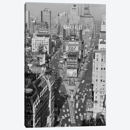 1950s Elevated View New York City Times Square Traffic Looking North To Duffy Square NYC NY USA Canvas Print #VTG288} by Vintage Images Canvas Wall Art