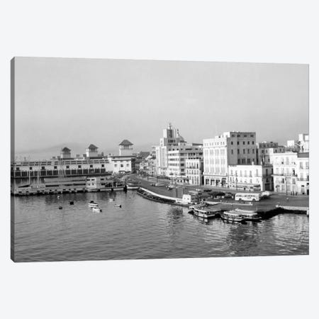 1950s Harbor Waterfront Havana Cuba Canvas Print #VTG295} by Vintage Images Canvas Wall Art