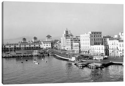 1950s Harbor Waterfront Havana Cuba Canvas Art Print