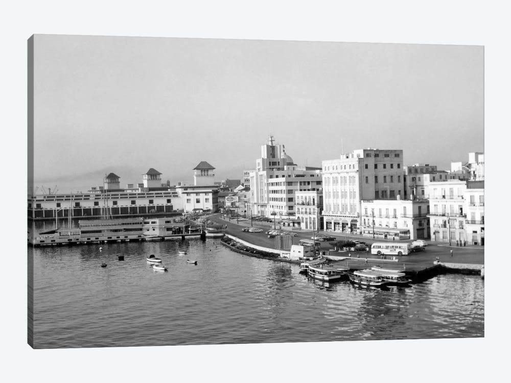 1950s Harbor Waterfront Havana Cuba by Vintage Images 1-piece Canvas Print
