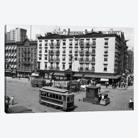 1916 The Eastern Hotel With An Edison Street Car At South Ferry Lower Manhattan New York City USA Canvas Print #VTG29} by Vintage Images Canvas Art