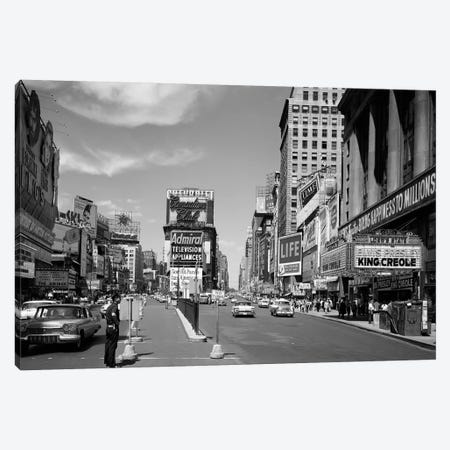 1950s Looking North Up Broadway From Times Square To Duffy Square King Creole On Movie Marquee Manhattan New York City USA Canvas Print #VTG308} by Vintage Images Canvas Print