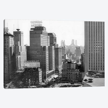 1950s Looking South At 61St Street Coliseum Tower Columbus Circle Excavation For New Building Bottom Center New York City NY USA Canvas Print #VTG309} by Vintage Images Canvas Print