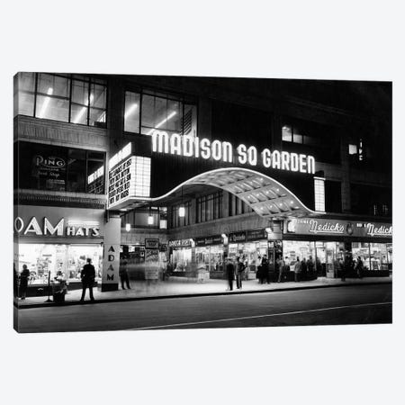 1950s Madison Square Garden Marquee Night West 49th Street Billing Ice Capades Of 1953 Building Demolished 1968 NYC NY USA Canvas Print #VTG311} by Vintage Images Canvas Artwork