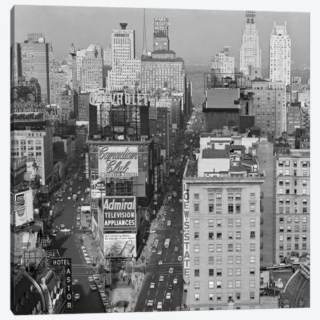 1950s New York City Times Square Looking North From Roof Of Hotel Claridge NYC NY USA Canvas Print #VTG315} by Vintage Images Canvas Art Print
