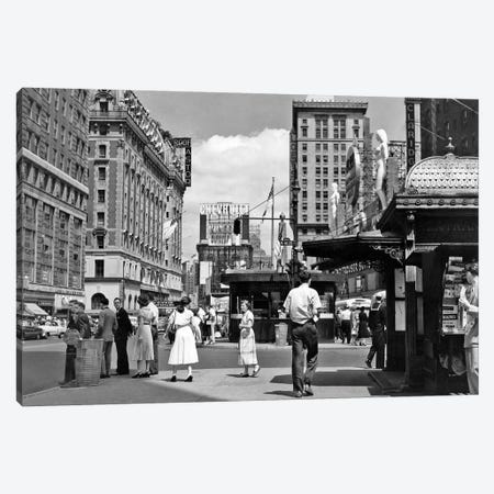 1950s New York City Times Square West 43Rd Street Looking North Canvas Print #VTG317} by Vintage Images Art Print