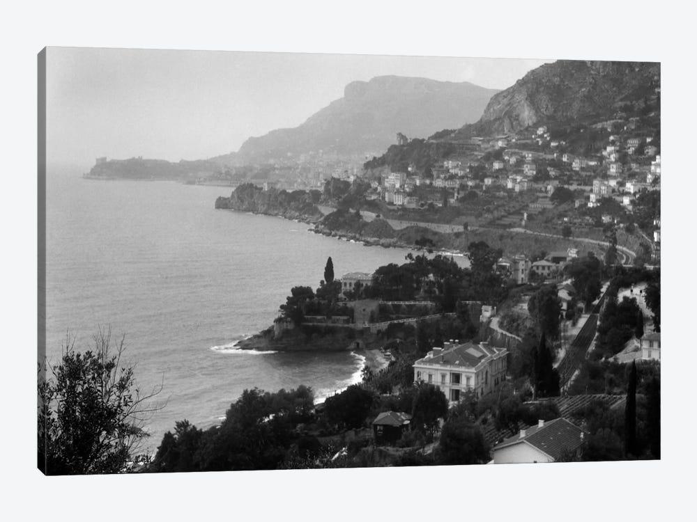 1920s Aerial Nice French Riviera Coastline Cote d'Azur Mediterranean Sea by Vintage Images 1-piece Canvas Artwork
