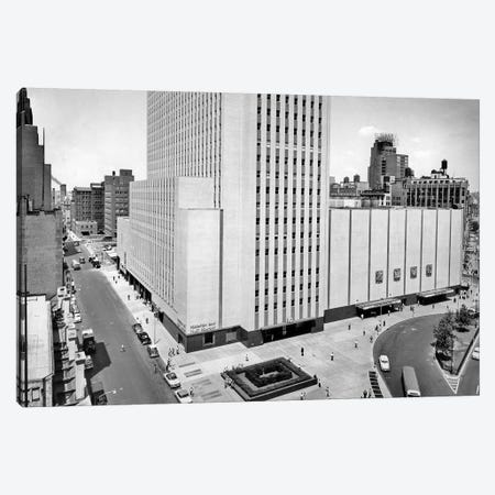 1950s New York Coliseum At Columbus Circle New York City USA Canvas Print #VTG320} by Vintage Images Art Print