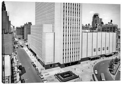 1950s New York Coliseum At Columbus Circle New York City USA Canvas Art Print