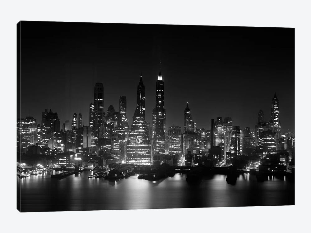 1950s Night Skyline Empire State Building Abo Vintage Images Icanvas