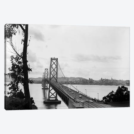 1950s Oakland Bay Bridge San Francisco California Canvas Print #VTG326} by Vintage Images Canvas Wall Art