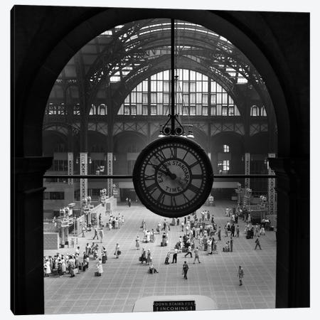 1950s Pennsylvania Station Clock New York City Building Demolished In 1966 NYC NY USA Canvas Print #VTG330} by Vintage Images Canvas Artwork