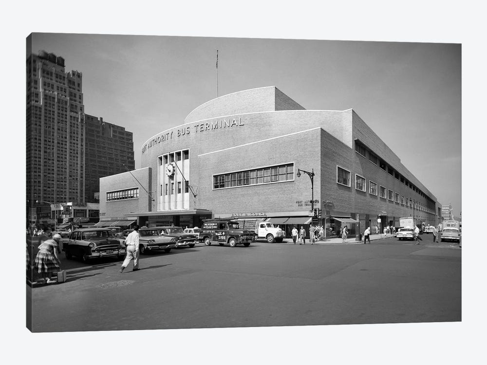 1950s Port Authority Bus Terminal 8th Avenue 40th And 41st Streets New York City USA by Vintage Images 1-piece Art Print
