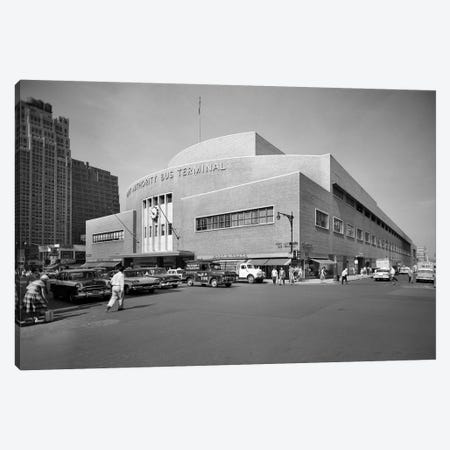 1950s Port Authority Bus Terminal 8th Avenue 40th And 41st Streets New York City USA Canvas Print #VTG334} by Vintage Images Art Print