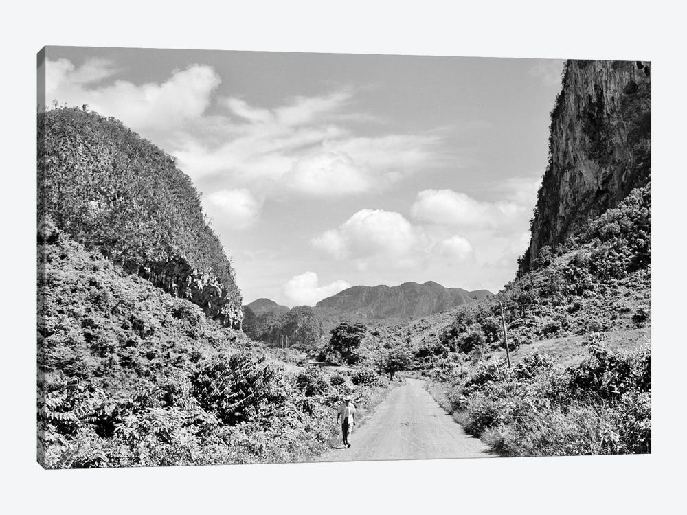 1950s Rural Road Outside Of Town Of Vinales In Pinar del Rio Province Cuba by Vintage Images 1-piece Canvas Print