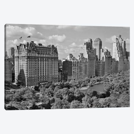 1950s Skyline Of New York City Manhattan 57Th Street Along Central Park Plaza Hotel Canvas Print #VTG341} by Vintage Images Canvas Print