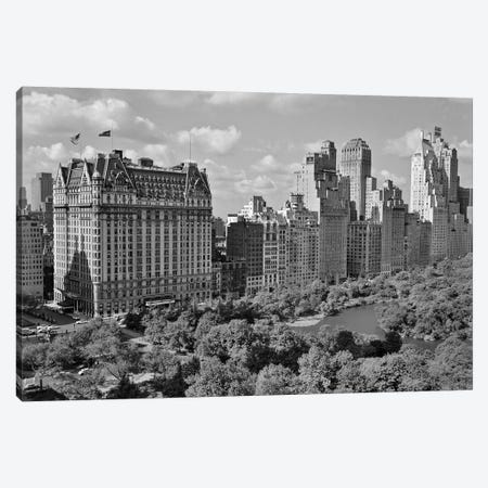 1950s Skyline Of New York City Manhattan 57Th Street Along Central Park Plaza Hotel Canvas Print #VTG341} by Vintage Images Canvas Print