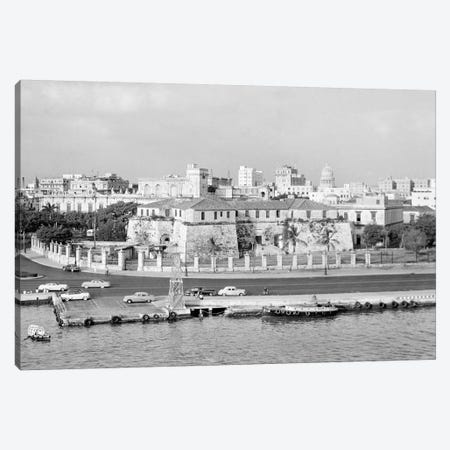 1950s Skyline View Of Castillo de la Real Fuerza In Foreground And Capitol Dome In Distance Havana Cuba Canvas Print #VTG342} by Vintage Images Art Print