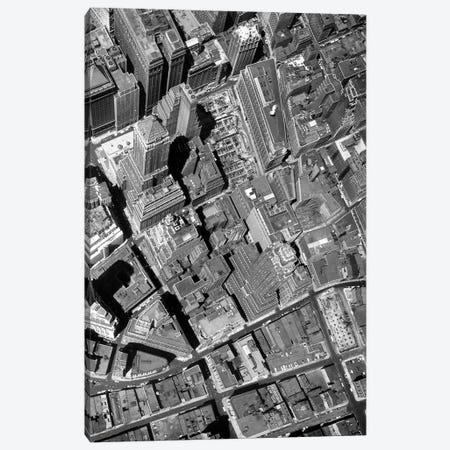 1950s Straight Down Vertical Of The Wall Street Section Of Downtown New York City NY USA Canvas Print #VTG347} by Vintage Images Canvas Art