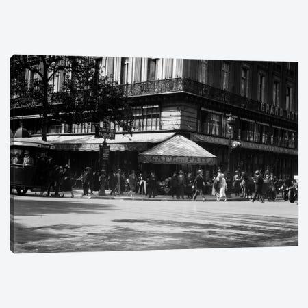 1920s Cafe de la Paix In The Grand Hotel Paris France Canvas Print #VTG34} by Vintage Images Canvas Artwork