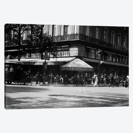 1920s Cafe de la Paix In The Grand Hotel Paris France Canvas Print #VTG34} by Vintage Images Canvas Artwork