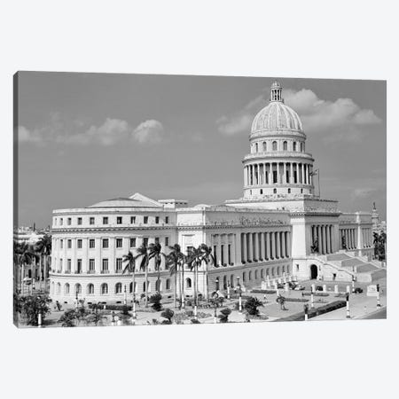 1950s The Capitol Building Havana Cuba Canvas Print #VTG353} by Vintage Images Canvas Wall Art
