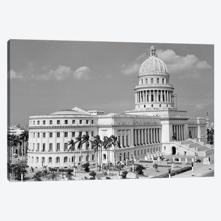 1950s The Capitol Building Havana Cuba Canvas Print #VTG353} by Vintage Images Canvas Wall Art