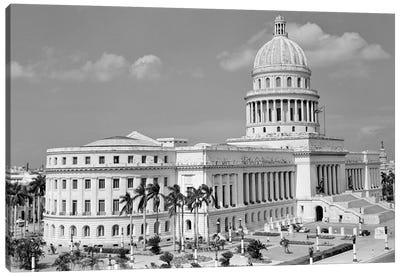 1950s The Capitol Building Havana Cuba Canvas Art Print
