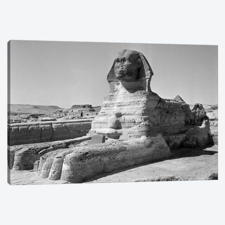1950s The Sphinx At The Giza Pyramids Cairo Egypt Canvas Print #VTG354} by Vintage Images Canvas Print