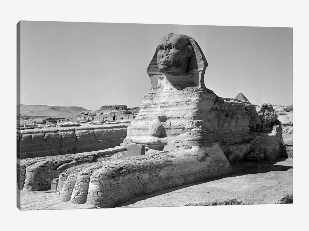 1950s The Sphinx At The Giza Pyramids Cairo Egypt by Vintage Images 1-piece Art Print