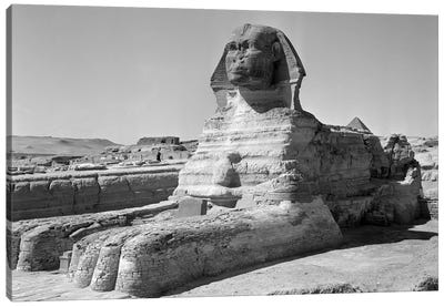 1950s The Sphinx At The Giza Pyramids Cairo Egypt Canvas Art Print