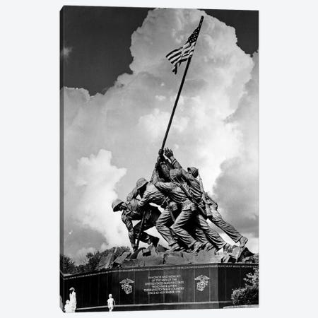 1950s USMC War Memorial Iwo Jima 1945 Washington Dc USA Canvas Print #VTG362} by Vintage Images Canvas Print